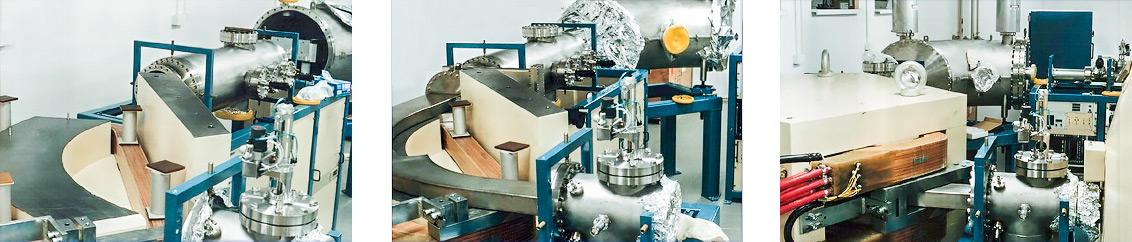 Trzy etapy montażu magnesu analizującego