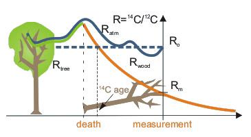 Zmiany koncentracji 14C na przestrzeni czasu